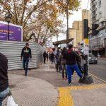 Avanzan las obra para renovar la plaza de la estación de Quilmes